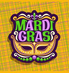 Logo for mardi gras vector