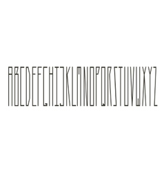 Modern slim type with long letters vector