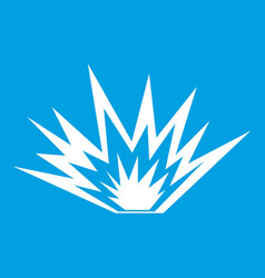 Nuclear explosion icon white vector
