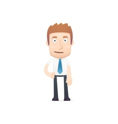 Office worker in various poses vector