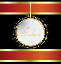 Red and black christmas card vector