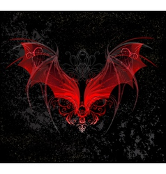 Red dragon wings vector