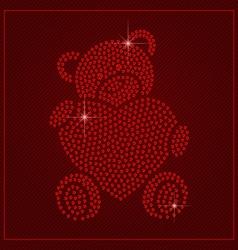 Rhinestone valentines day template vector