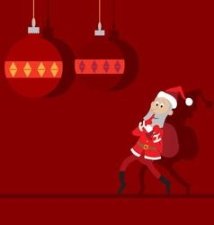 Santa Claus goes with a bag abstraction vector image
