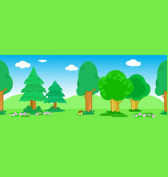 Seamless line of trees vector