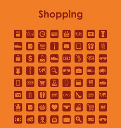 set of shopping simple icons vector image