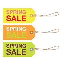 spring sign set vector image vector image