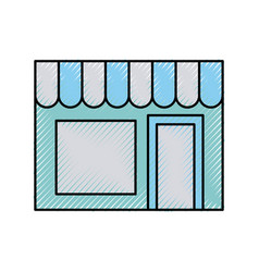 store building front icon vector image vector image
