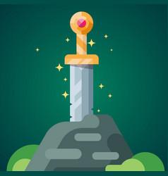 Sword Stone 2 vector image