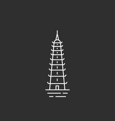 vietnam landmark in outline style vector image vector image