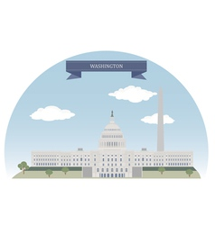 Washington vector image vector image