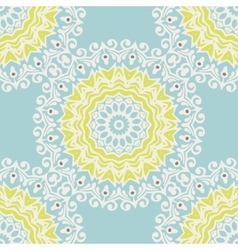 Winter snowflake mandala pattern vector