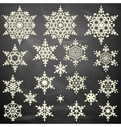 Snowflakes collection on board eps 10 vector