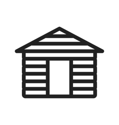 Wood cabin vector
