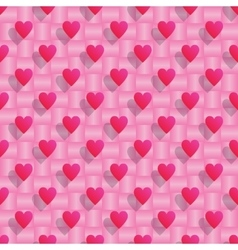 Pink hearts seamless valentine background vector