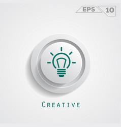 lamp creative circle icon vector image
