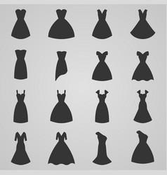 set of women dress vector image