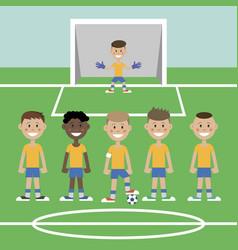 a children s football team vector image