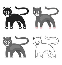 Panther icon cartoon singe animal icon from the vector