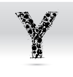Letter y formed by inkblots vector