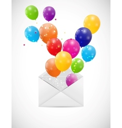 Envelope with Balloons vector image