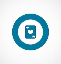 poker bold blue border circle icon vector image