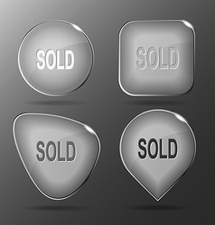 Sold glass buttons vector