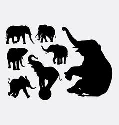 Elephant animal silhouettes vector