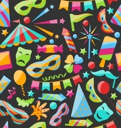 Carnival seamless texture with colorful cirsus vector