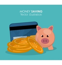 Saving money design vector