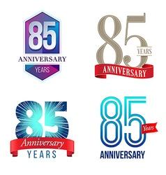 85 years anniversary symbol vector
