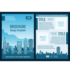 Construction company business brochure vector