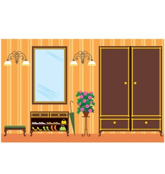 Entrance hall in apartment vector