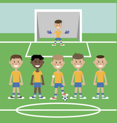 A children s football team vector