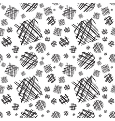 Abstract pattern with hand-drawn lines vector