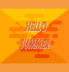 Abstract yellow background with hello summer vector