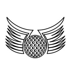 ball golf sport equipment vector image