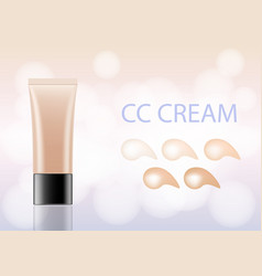 bb-cream foundation concealer packaging mock-up vector image