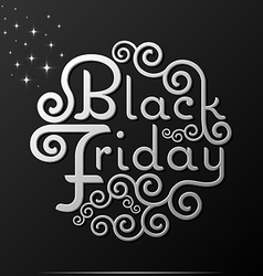 Black friday text vintage calligraphy lettering vector