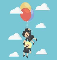 Cartoons concepts teamwork vector