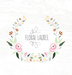 Colorful flat design style foral frame an vector
