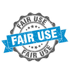 Fair use stamp sign seal vector