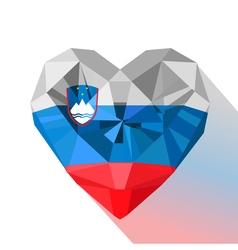 Flat style logo symbol of love slovenia vector