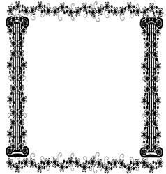 frame with columns and flowers 2 vector image vector image