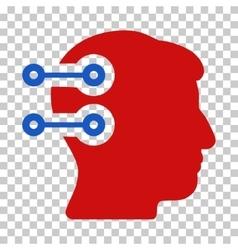 Head connectors icon vector