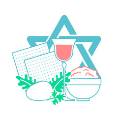 Icon holiday pesach vector