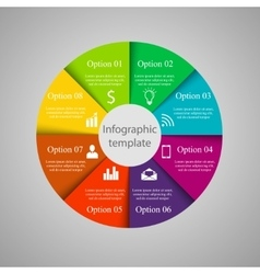 Infographic circle template vector image