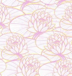 Ink hand drawn lotus pattern vector image