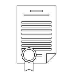 Insurance document icon outline style vector image