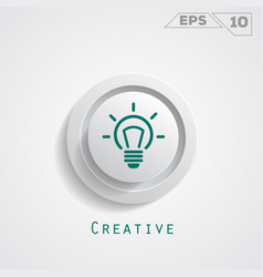 lamp creative circle icon vector image